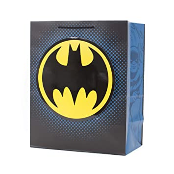 Amazon.com: Hallmark Batman Large Gift Bag with Tissue Paper ...