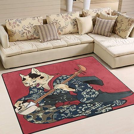 Mnsruu Alfombra Japonesa para Sala de Estar o Dormitorio con
