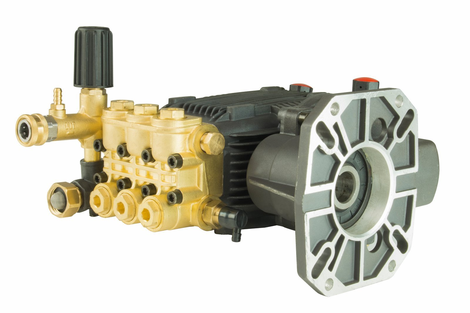 Erie Tools 4.4 GPM 3600 PSI Triplex High Pressure Washer Pump & Gearbox - 1'' Hollow Shaft