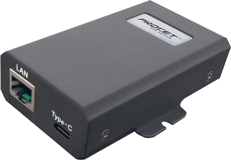 Procet Gigabit USB Type C PoE Splitter,IEEE802.3at PoE Input to USBC Device 5V,9V,12V,15V,20V up to 27W,PT-PTC-at