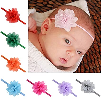Christmas Headbands For Babies.Amazon Com 12 Pcs Baby Girls Flower Headbands Newborn