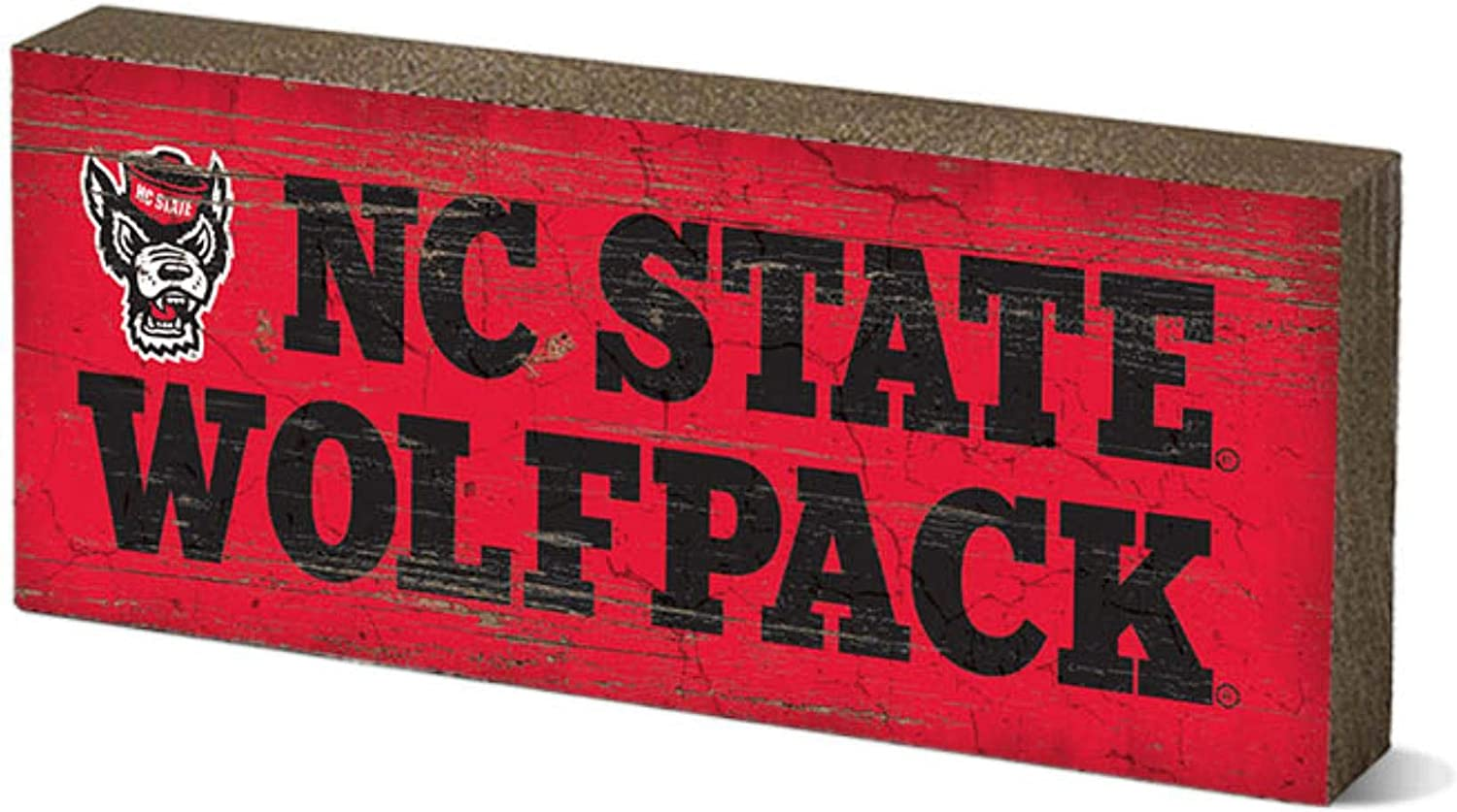 Wood One Size NCAA Legacy North Carolina State Wolfpack Mini Table Top Stick 2.5x6