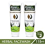 Roop Mantra Cucumber Face Wash for Men & Women (115ml, Pack of 2) with Neem & Aloe Vera, Herbal Face Wash