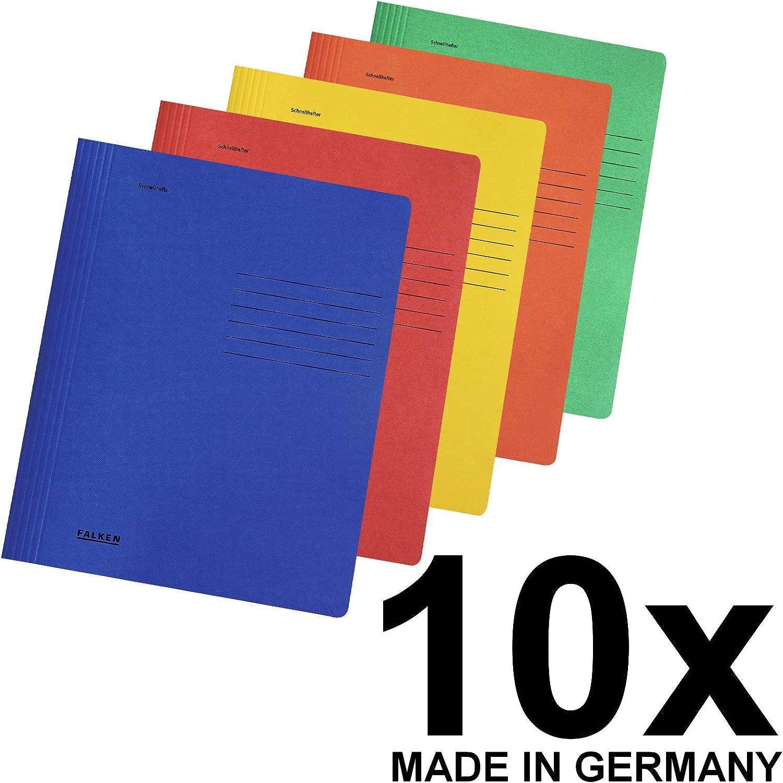 Made in Germany Hefter aus Recycling-Karton f/ür DIN A4 kaufm/ännische und Beh/ördenheftung blau Blauer Engel ideal f/ür B/üro und Schule Original Falken Schnellhefter Intensivfarben