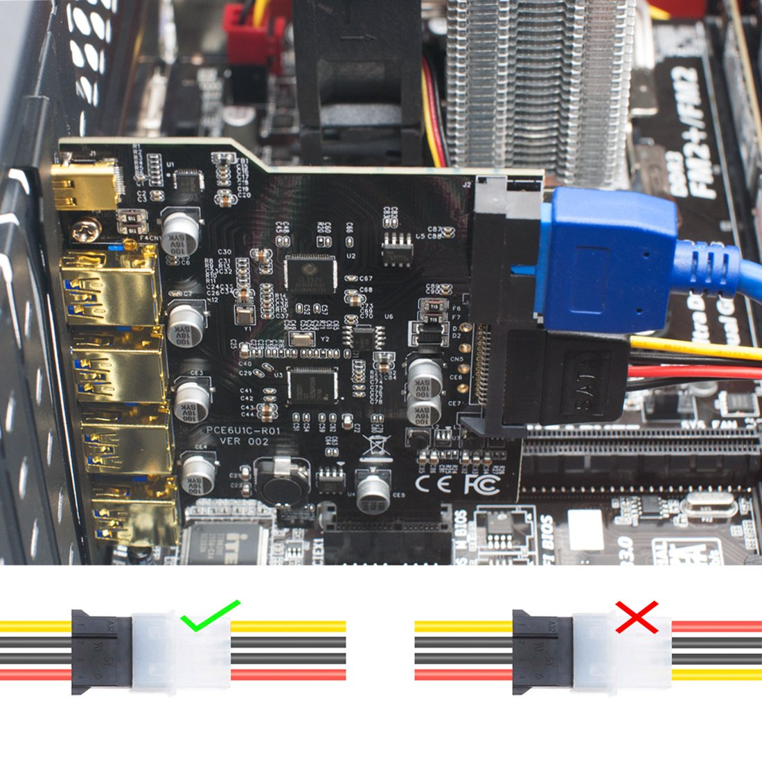 Mailiya Pci E To Type C A 5 Port Usb 30 Express Toy And Carefully Look For Circuitry That You Can Bend Manipulate Card 15 Pin Power Connector Mini Hub Controller Adapter Internal 20