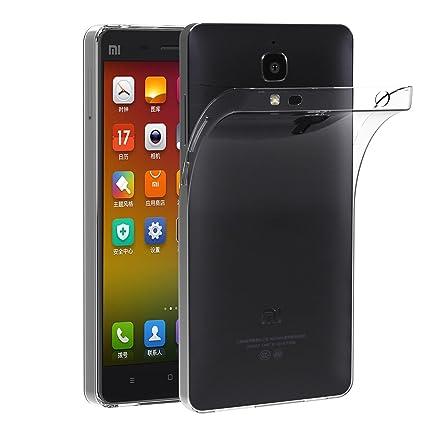 iVoler Funda Carcasa Gel Transparente para Xiaomi MI 4, Ultra Fina 0,33mm, Silicona TPU de Alta Resistencia y Flexibilidad