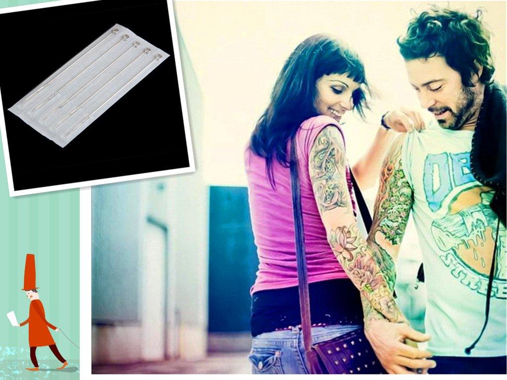5 x Agujas de Tatuaje 3RL Desechable para Tatuar Acero Inoxidable ...