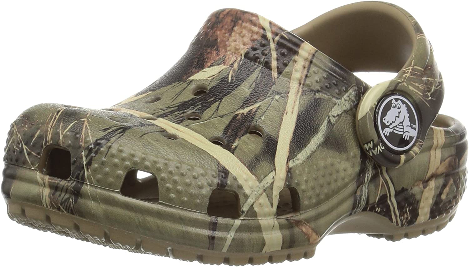 Camo Shoes Crocs Kids Classic Realtree Clog Slip On Water Shoes