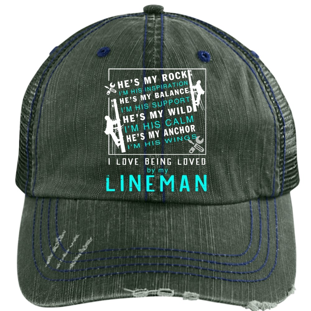 ae219804364e5 Loved By My Lineman Hat