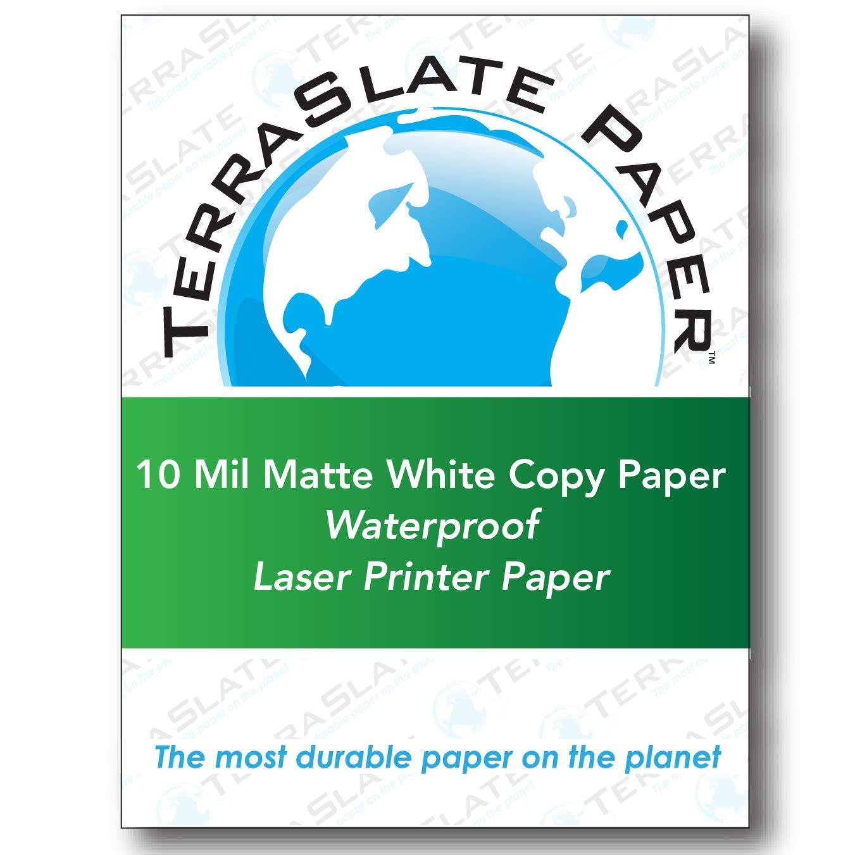 TerraSlate Paper 10 MIL 8.5'' x 11'' Waterproof Laser Printer/Copy Paper 500 sheets by TerraSlate Paper (Image #1)