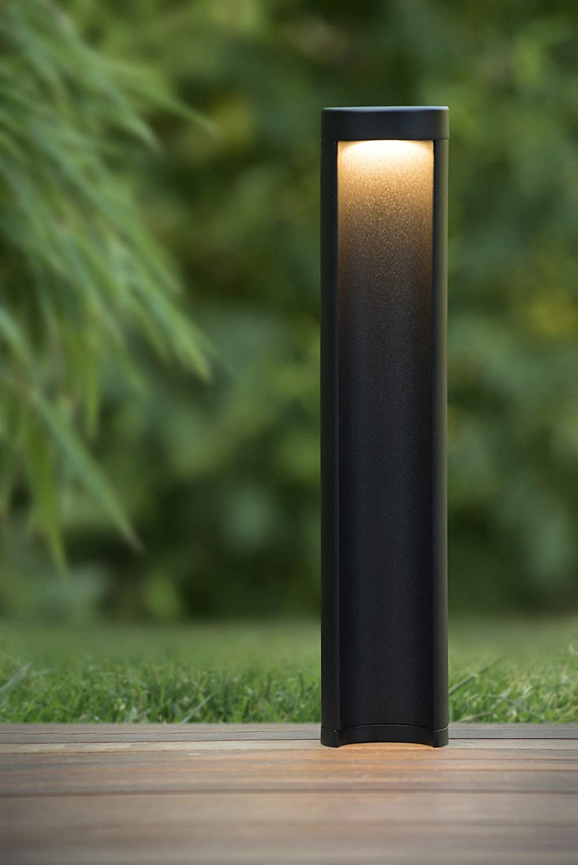 Pollerleuchte Au/ßen 1x7W 3000K /Ø 9 cm IP54 Lucide COMBO LED Schwarz