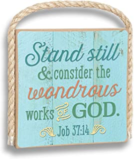 product image for Imagine Design Stand Still and Consider The Wonderous Works Gone Coastal Plaque