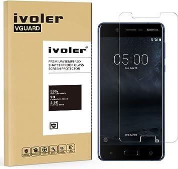 ivoler Protector de Pantalla para Nokia 5 2017, Cristal Vidrio ...