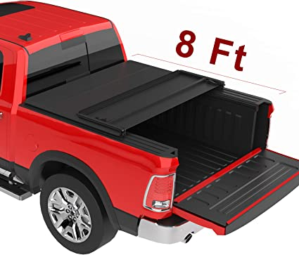 Amazon Com Oedro Upgraded Soft Tri Fold Truck Bed Tonneau Cover