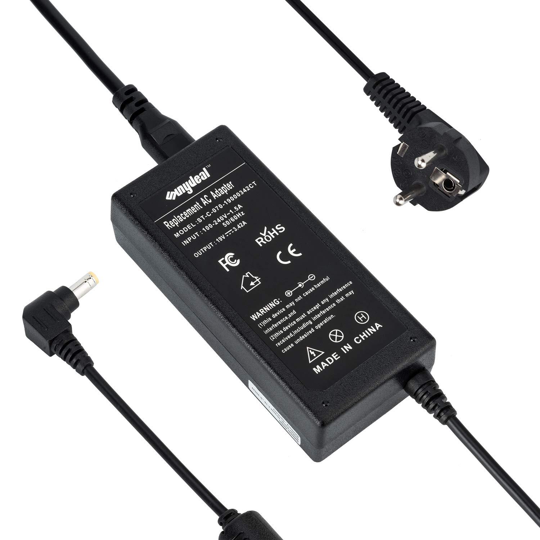 2.5mm 19V 4,74A Ladeger/ät Netzteile Netz f/ür Asus TOSHIBA MEDION LAPTOP FSP090-1ADC21 MEDION AKOYA P6618 Stecker:5.5mm Sunydeal 90W Netzteil