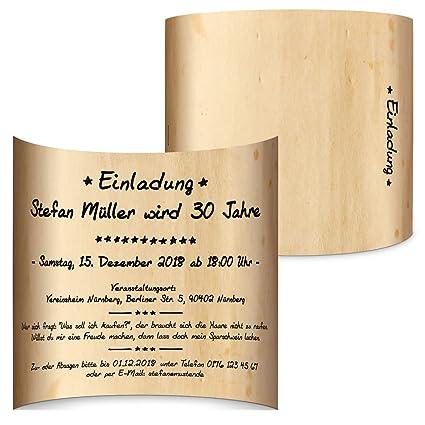 Holz Lichtgirlande 10 x Men/ükarten Hochzeit Men/ü individuell Klappkarten Speisekarten Getr/änkekarten