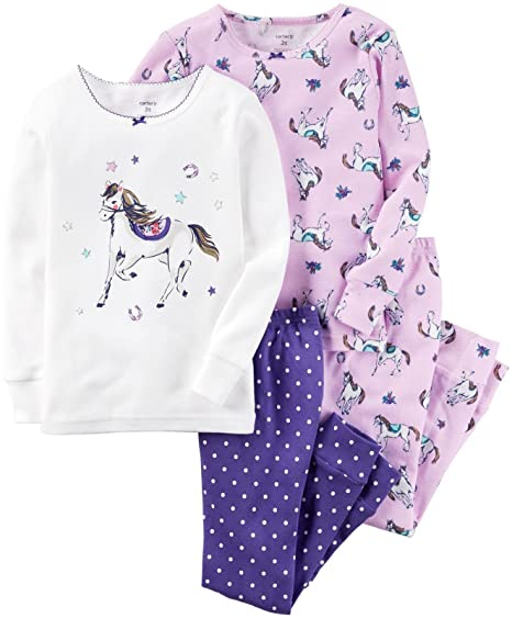 c3dc7c4636 Amazon.com  Carter s Baby Girls  4 Pc Cotton 331g173  Clothing