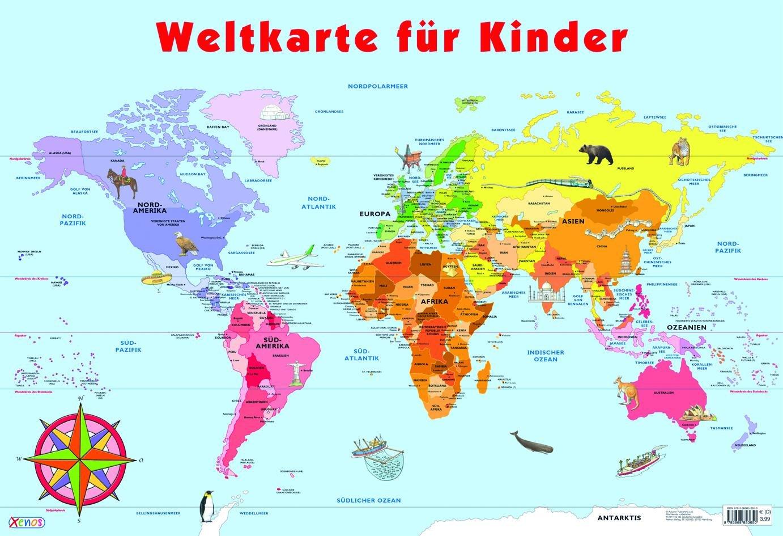 Mein Lernposter - Weltkarte für Kinder
