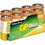 GP Batteries Ultra Alkaline D batteries Pack of 8| Superb operating time | 13AU | 1.5V | LR20 | MX1300 | X95…