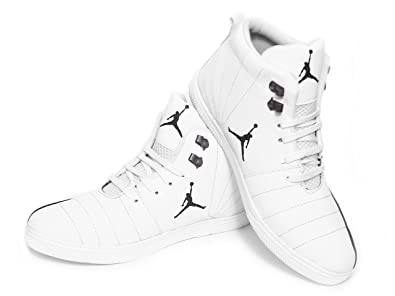 sale retailer 0ae21 7c568 EASYWEAR Jordan White and Black Casual Canvas Shoe Sneaker for Men and Boys  (Size -