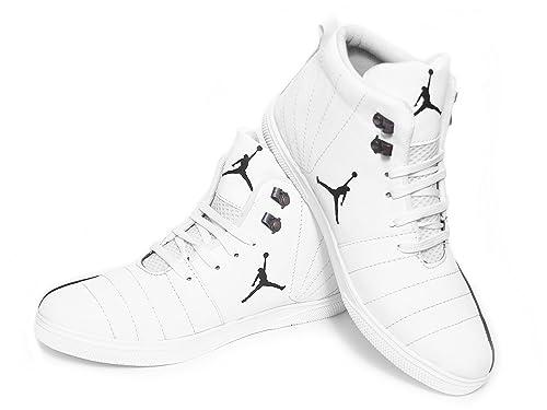 f099bae02e8aec EASYWEAR Jordan White Black Casual Canvas Shoe Sneaker Men Boys (Size - 10)