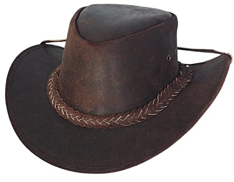 Bullhide Montecarlo Cedar Groove Top Grain Leather Aussie Style Hat Small d6de7a4427b
