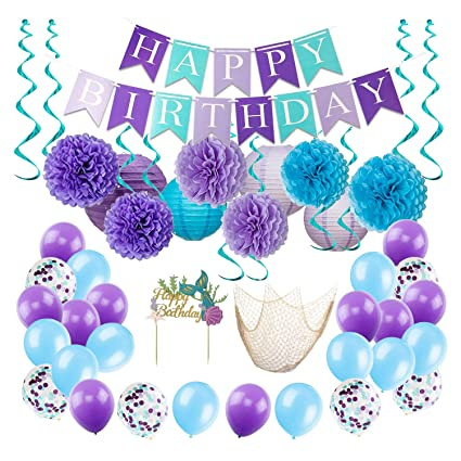 amazon com mermaid party decorations for girls mermaid party