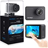 AKASO V50 Pro Native 4K30fps 20MP WiFi Action Camera with EIS Touch Screen 100 feet Waterproof Camera Web Camera Support…