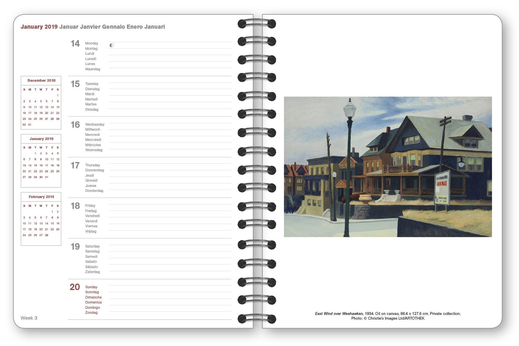 Hopper 2019 Buchkalender Deluxe: Amazon.es: Edward Hopper ...