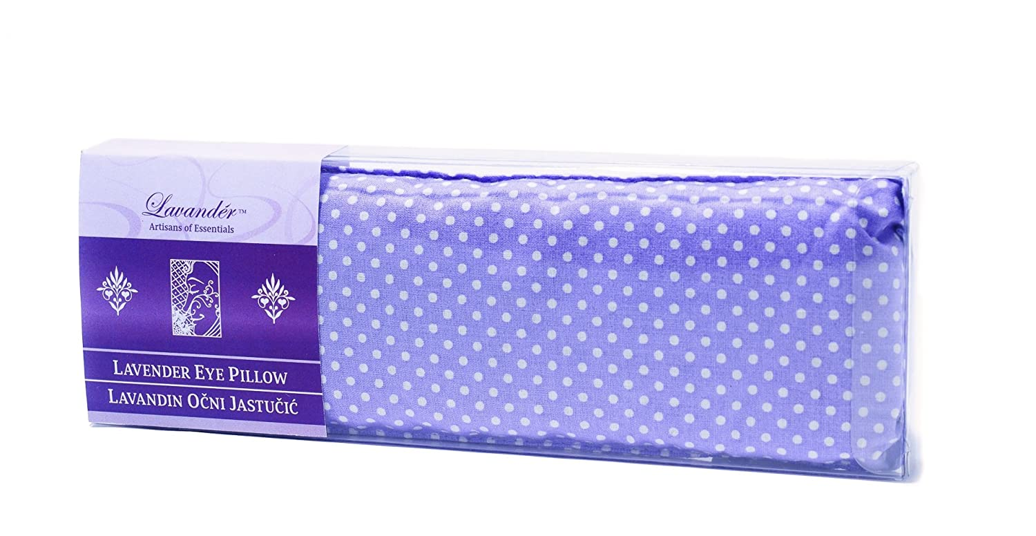 Lavender and Flax Seeds Natural Cotton Eye Pillow - Aromatherapy and Yoga - Provides Cooling, Relaxation, Relief - Microwaveable or Frozen OPG Coric JL-1
