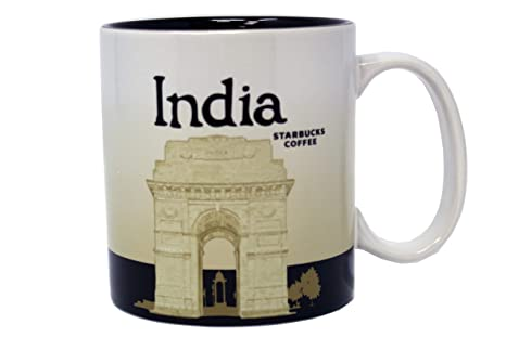 Amazon Com Starbucks India Global Icon Mug 16 Oz Coffee