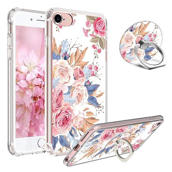 Amazoncom Iphone 6 Plus Caseiphone 6s Plus Casegirl Floral Clear