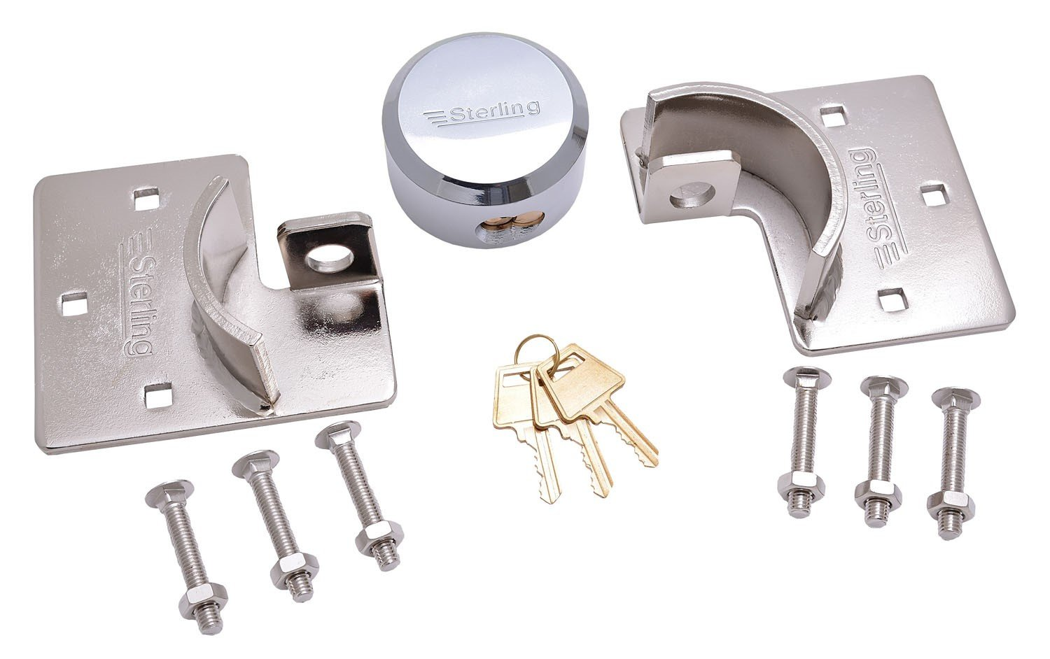 Sterling PHS002 40 mm Brass Padlock//95 mm Hasp and Staple Solution Pack