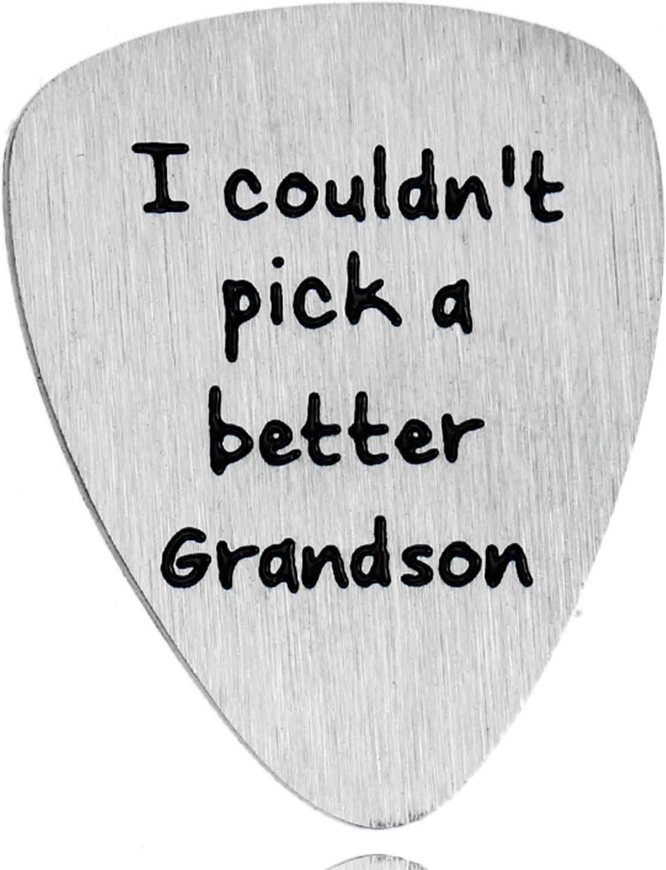 Grandson Gifts - Púas de guitarra para nieto con texto en inglés