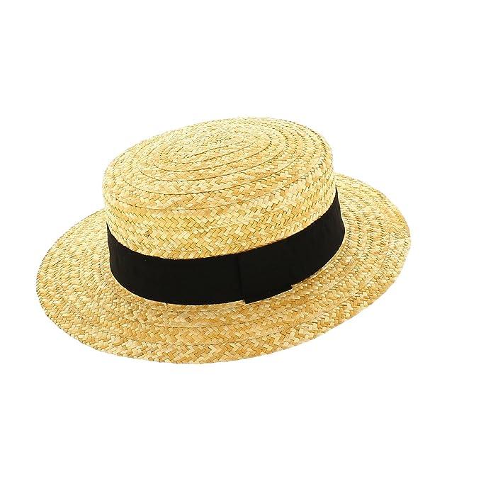 Votrechapeau-Sombrero de paja-Canotier-auténtica  Amazon.es  Ropa y  accesorios e7ceb8988d1