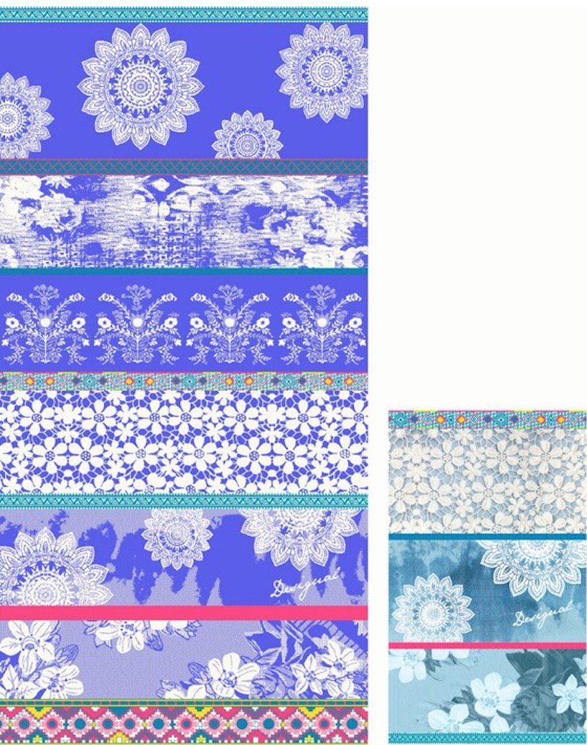 Desigual Telo da bagno Set 100 X 50 & 30 x 50 cm Pack Towel _ Exotic Summer 18shwt14