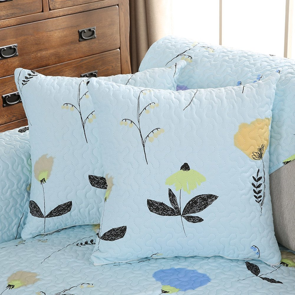 NCSJDHF Pastoral Style [Plant Flowers] Cotton Waist Cushion/Pillow/Pillowcases-D 45x45cm(18x18inch) VersionA