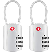 Diyife TSA Luggage Locks, [Newest Version][2 Packs] 3-Digit Security Padlock, Combination Padlocks, Code Lock for Travel Suitcases Luggage Bag Case etc. Silver