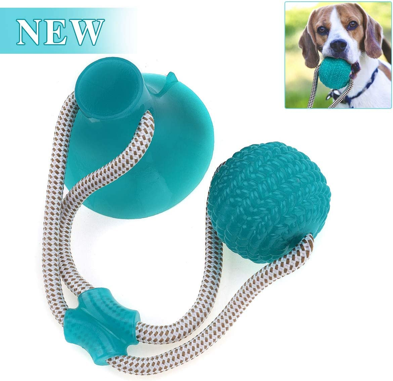 Charminer Pelota de Juguete al Aire Libre para Perros, Juguete Multifuncional para mordedura de Molar para Mascotas, Juguete de Bola de Perro de Estilo de Ventosa Resistente a la masticación