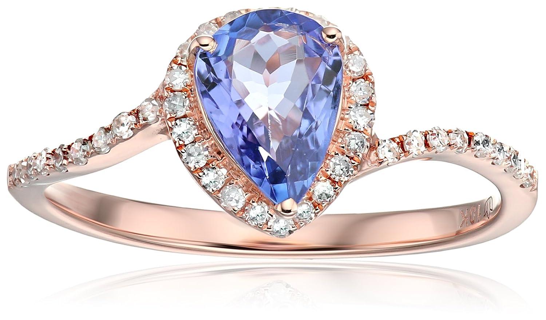 Princess Diana Wedding Ring.10k Rose Gold Tanzanite And Diamond Princess Diana Pear Shape Engagement Ring 1 5cttw Hi Color I1 I2 Clarity Size 7
