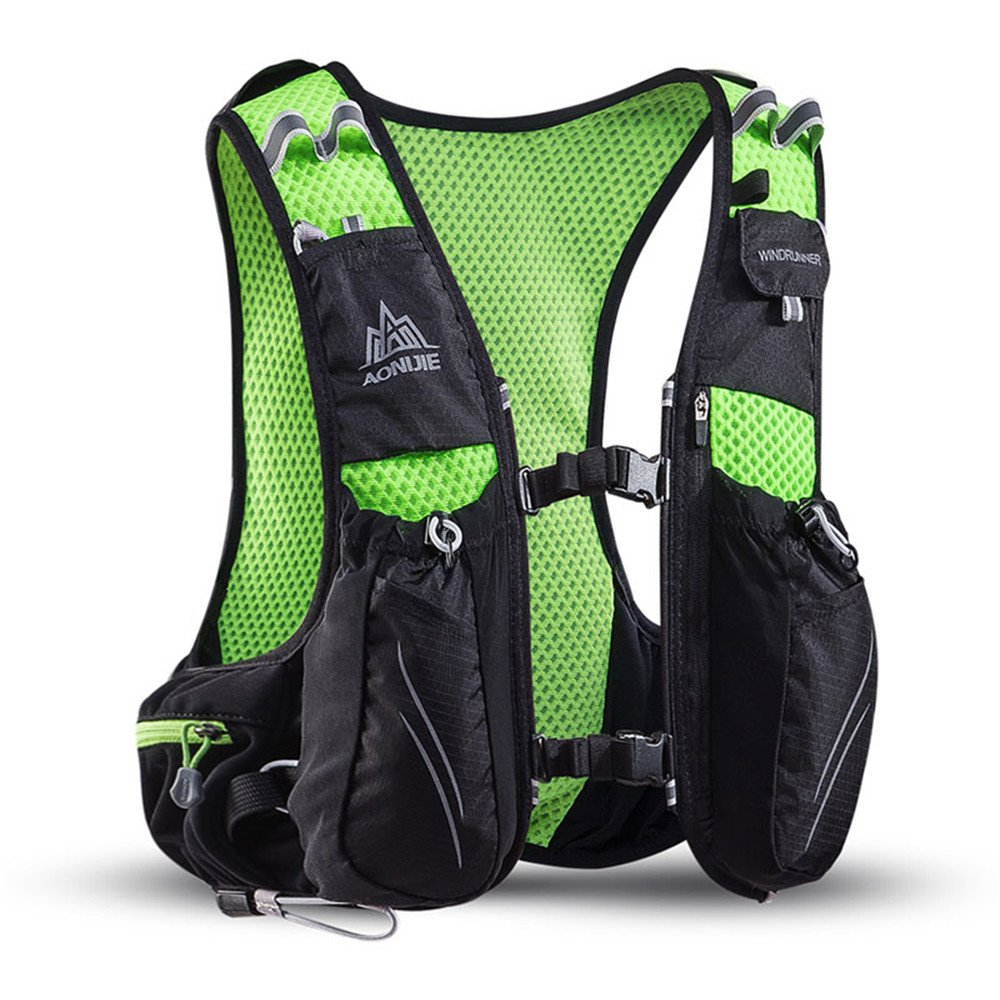 AONIJIE Hydration Backpack 10L Running Vest Pack with Water Bottle 2L Hydration Bladder for Hiking Camping Bicycling