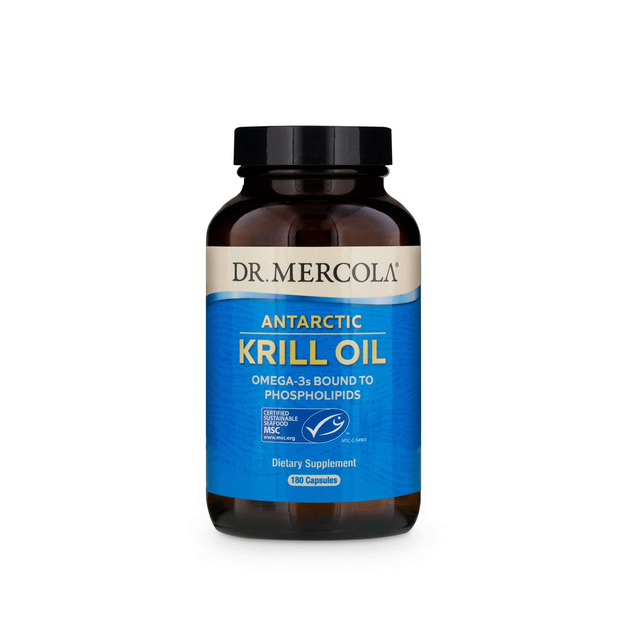 Dr. Mercola, Antarctic Krill Oil, 90 Servings (180 Capsules), Support a Healthy Heart, Overall Joint Comfort and Immune Function, MSC Certified, Non GMO, Soy-Free, Gluten Free by Dr. Mercola