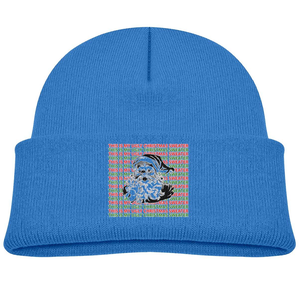 Hanfjj Kefdk Santa Merry Christmas Infant Knit Hats Baby Girl Beanies Cap