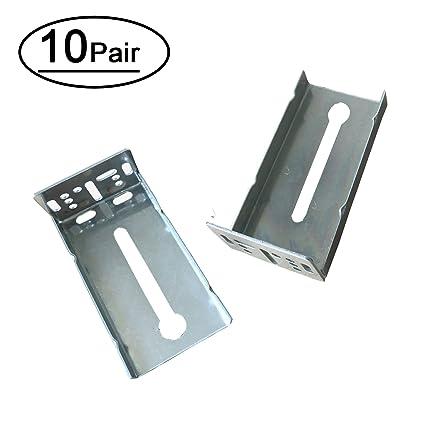 10 pairs rear mounting brackets for drawer slide lontan b4502 rh amazon com