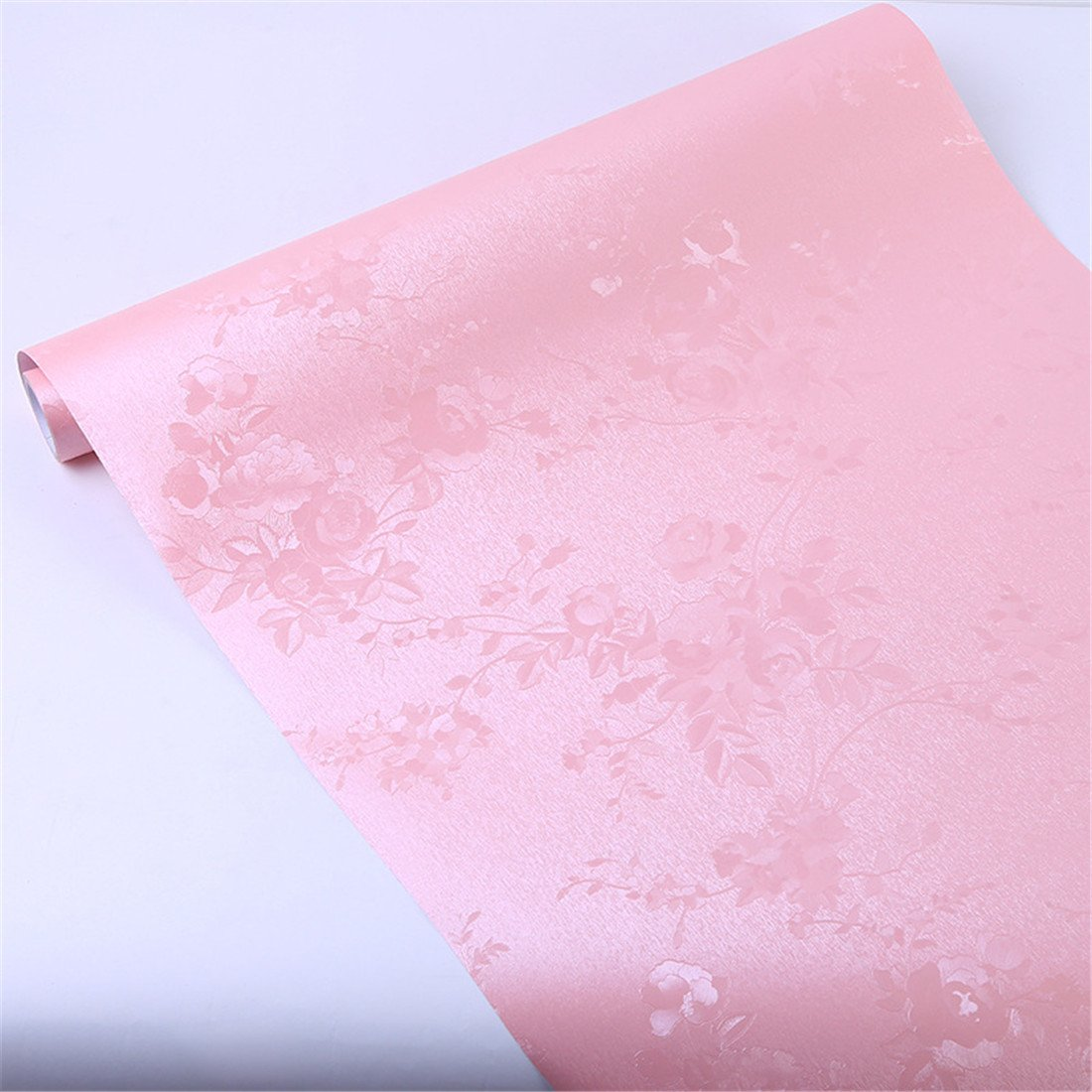 Vanyear Pink Contact Paper Self-Adhesive Wall Paper Shelf Liner Girl's Room Decoration 23.6 Inch by 16.4 Feet