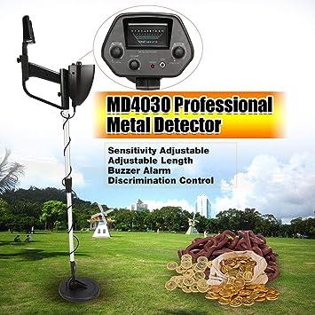 Detector de metales subterráneo portátil portátil MD4030 Cazador de tesoros portátil Buscador de oro Longitud ajustable (Color: Negro y Plata): Amazon.es: ...