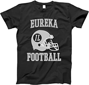 4INK Vintage Football City Eureka Shirt for State Illinois with IL on Retro Helmet Style