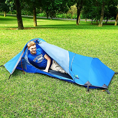 Arctic Monsoon Bivy Tent Portable Lightweight Durable Single Backpacking Sack Blue & Arctic Monsoon Bivy Tent Portable Lightweight Durable Single ...