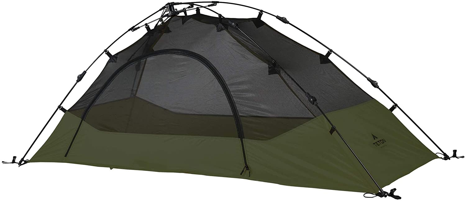 TETON Sports Quick Tent; Pop-Up Tent; Instant Setup – Less Than 1 Min; Camping and Backpacking Tent; Easy Clip-On Rainfly Included