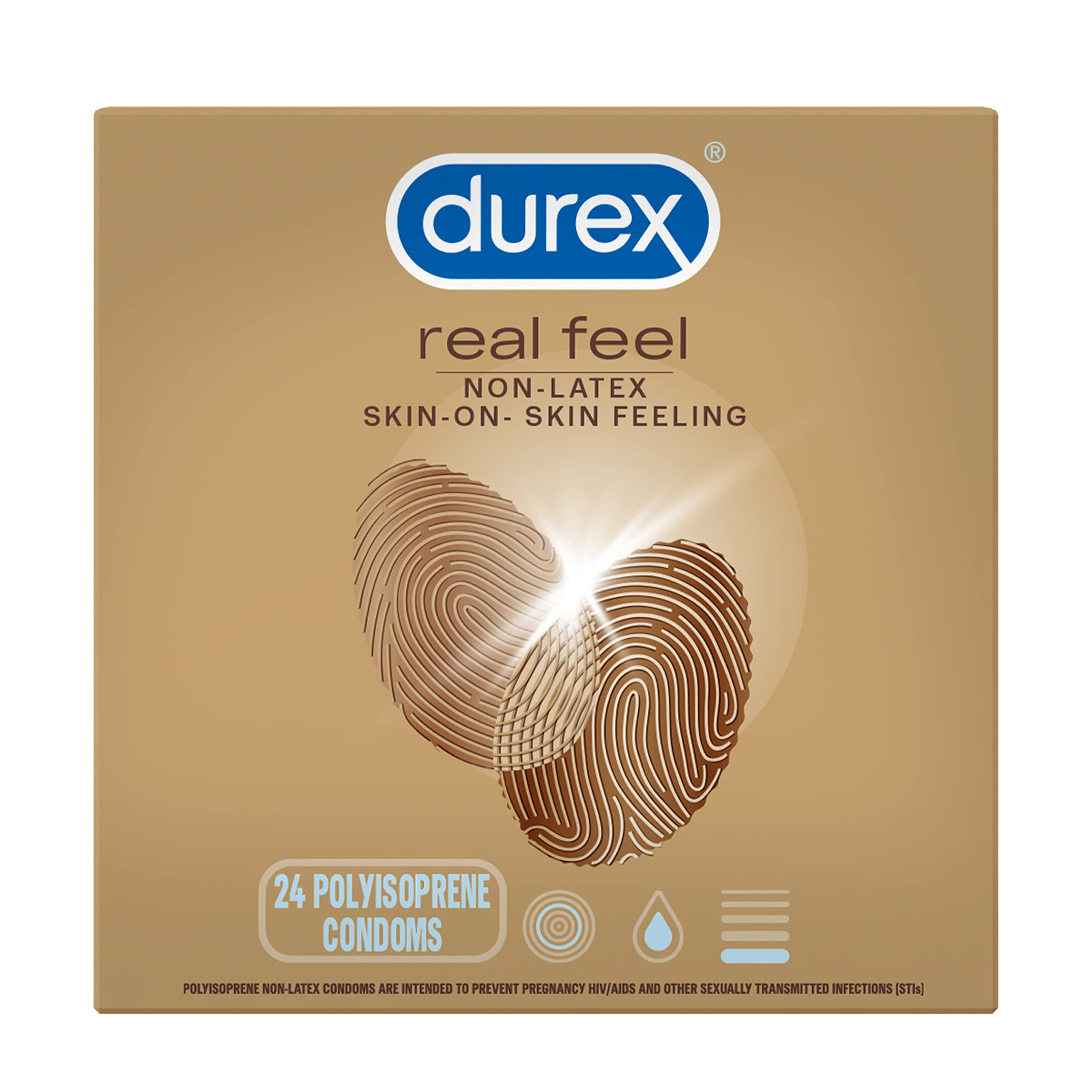 Condoms for Sex, Non Latex Durex Avanti Bare Real Feel Lubricated Condoms, 24 Count, Non Latex Condoms for Men with Natural Skin on Skin Feeling, FSA & HSA Eligible